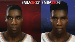 NBA 2K14 vs NBA 2K13 Face Comparisons