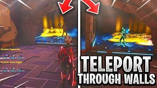 *NEW* Teleport Guns Through Wall Scam! (Scammer Get Scammed) Fortnite Save The World