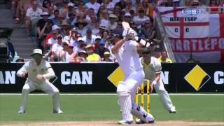Watch mitch johnson take the wickets of stokes, prior, broad, swann, and anderson in a 24-ball spell at adelaide oval