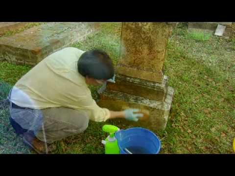 how to clean a stone grave marker youtube. Black Bedroom Furniture Sets. Home Design Ideas