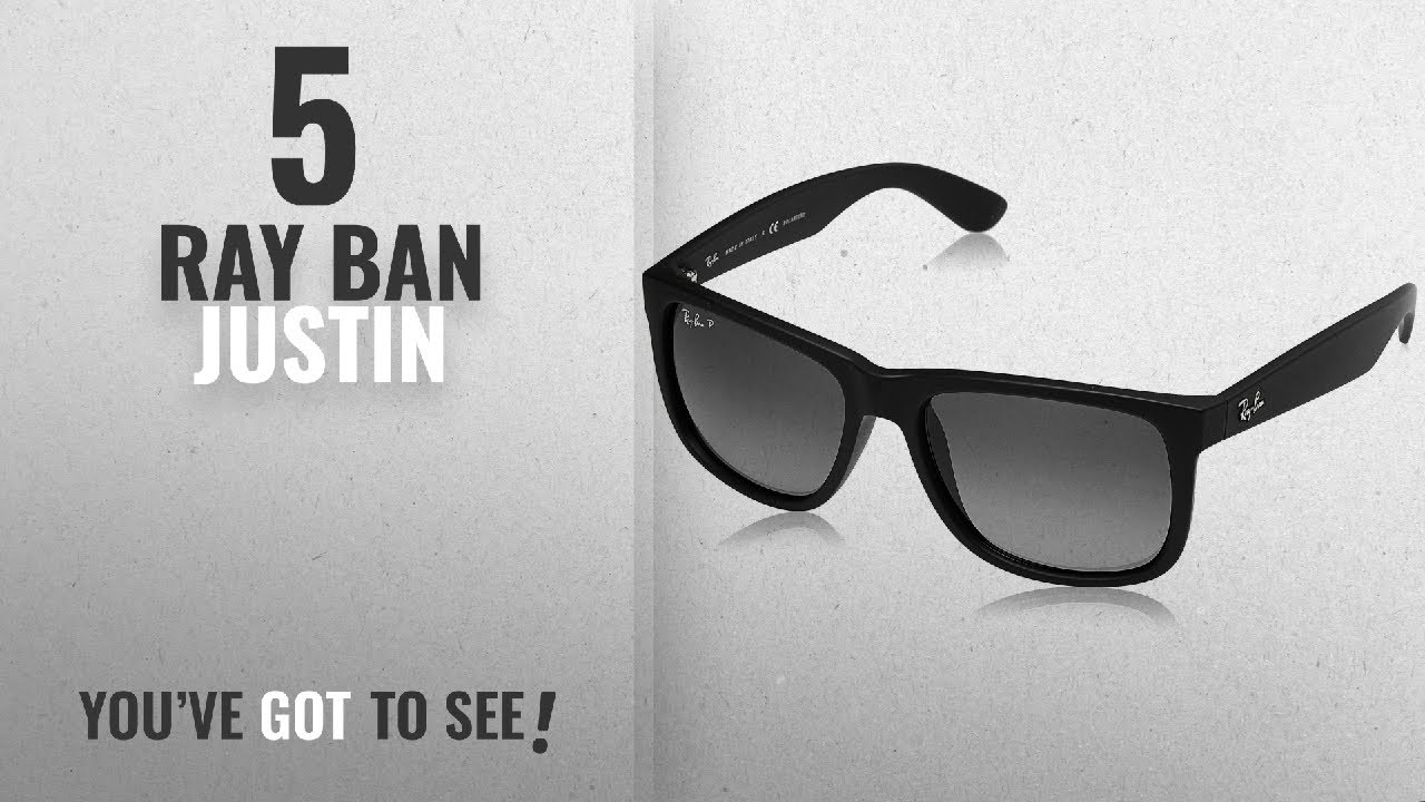 803bc287e4 Top 10 Ray Ban Justin   Winter 2018    Ray-Ban Men s 0RB4165 Justin ...