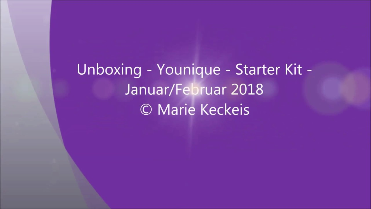 Younique Unboxing Video 01 2018 By Mariek