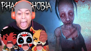 I'M TOO SCARED TO PLAY THIS!! [PHASMOPHOBIA] [@H2ODelirious / @CaRtOoNz /@Dead Squirrel ]