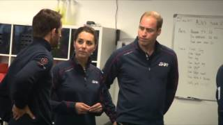Will and Kate tour British naval base after America's Cup canceled due to weather