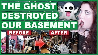 The Ghost Destroyed Our Basement (With Footage)