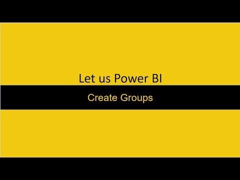 Create Groups Power BI
