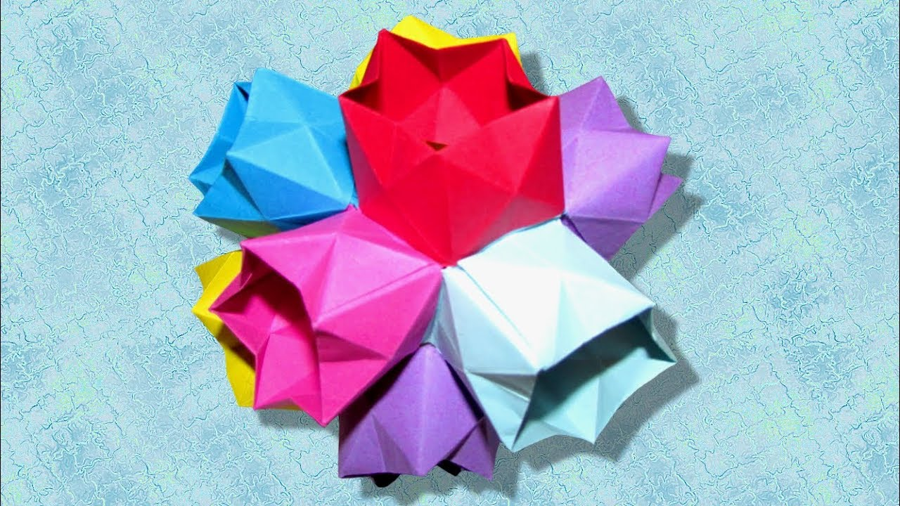 Fiori Kusudama.Kusudama Fleurs De Printemps Dodecaedro Fiori Che