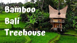 Gambar cover Bamboo Bali Treehouse DJI Mavic Air Drone - Airbnb 2019 - Tampaksiring Gianyar Bali (4k)