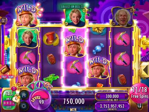 """WILLY WONKA'S WILD FACTORY Video Slot Casino Game with a """"BIG WIN""""  FREE SPIN BONUS"""