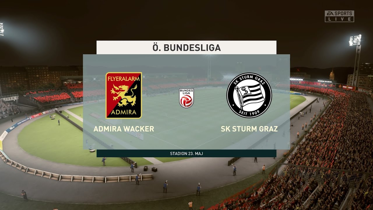 Fifa 20 Admira Wacker Vs Sturm Graz Club Friendly 26 05 2020 1080p 60fps Youtube