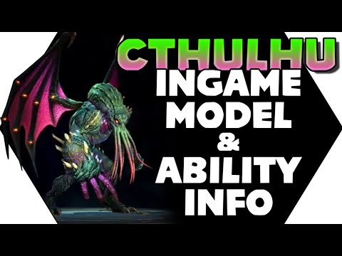 SMITE: CTHULHU Ingame Model & Guardian Confirmed! Cthulhu Closer Look With More Ability Info