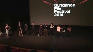 Cast & directors of Swiss Army Man at Sundance Film Festival Jan 23 2016