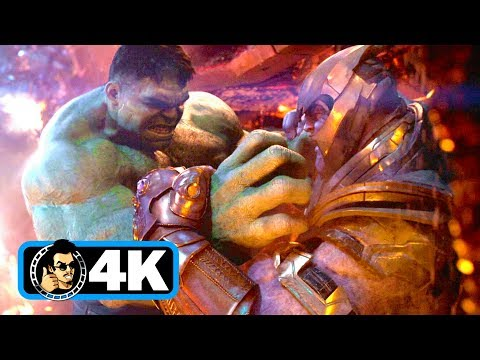 AVENGERS: INFINITY WAR Movie Clip - Hulk Vs Thanos Fight Scene (4K ULTRA HD) thumbnail