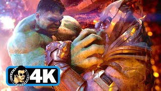 AVENGERS: INFINITY WAR Movie Clip - Hulk Vs Thanos Fight Scene (4K ULTRA HD)