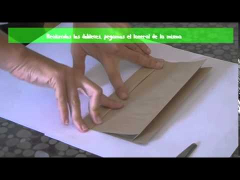 60d1f318d Bolsas de papel - armado manual - YouTube