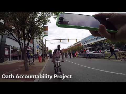 Protester hit me with his bike in RVA | OAP