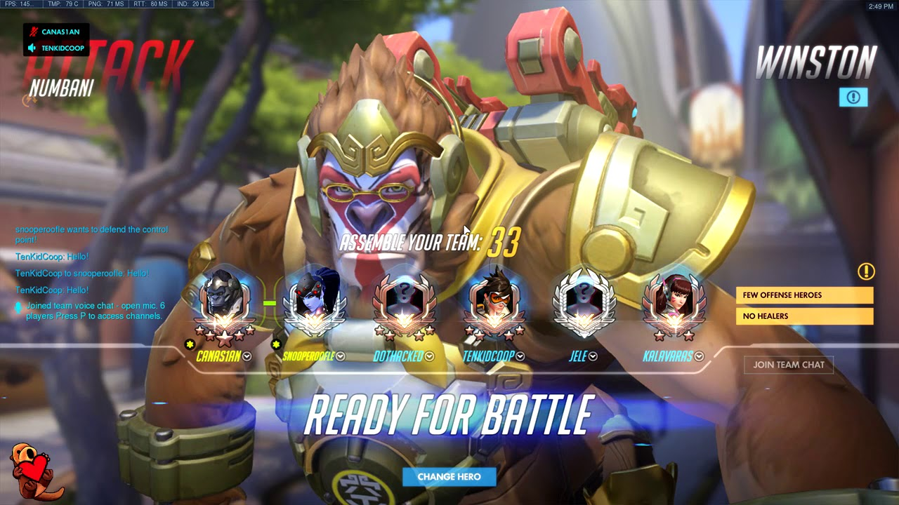 This is Overwatch - Grand Master Tank Main. S6. MAIN ACC
