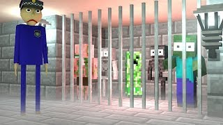 Monster School: JAIL BREAK CHALLENGE!! - Minecraft Animation