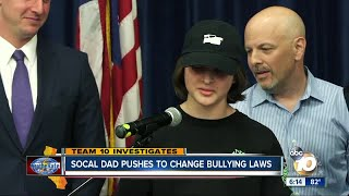 Socal father pushes to change California bullying laws
