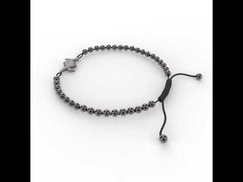 Ouran Femme Bracelet Breloques Porte-Bonheur Plumes Bracelet N?UD Bracelet Noir Cordon de Cire Bracelet Manchette avec Cristal TCH?Que