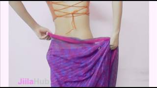 How To Wear Mumtaj Style Fish Cut Saree-Drape Tight Fit Indian Sari Blouse