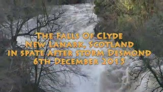 The Falls of Clyde in spate (4K)