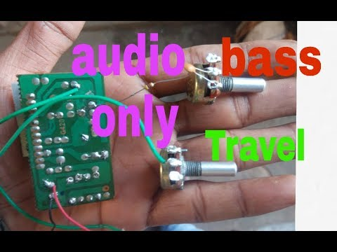 how to make high audio Bass and treble control circuit add 6263kit and  4440kit||using 100k volume||