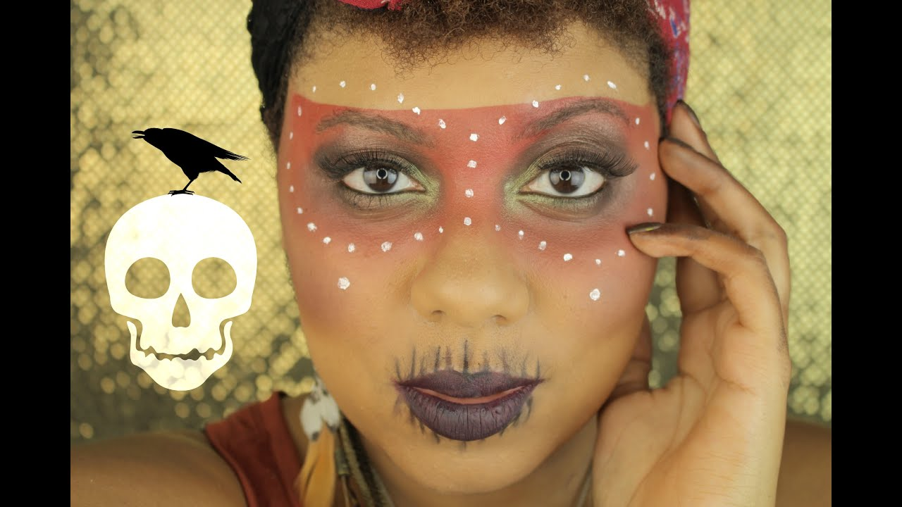 Easy Voodoo Witch Doctor Halloween Makeup Tutorial | MiKayla ...