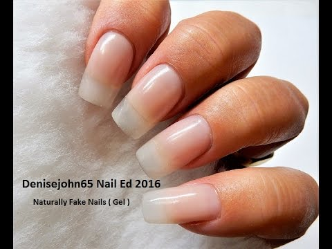REAL But NOT REAL Nails -----SEE HOW-- ( Gel )----Go for NATURAL ...