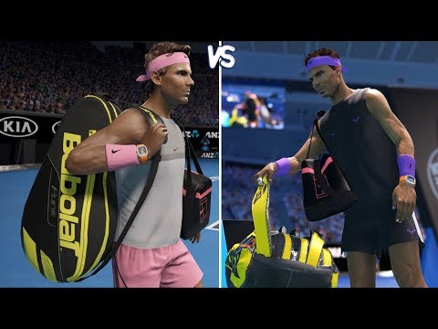 AO International Tennis Vs AO Tennis 2 - Gameplay Comparison (PC HD) [1080p60FPS]