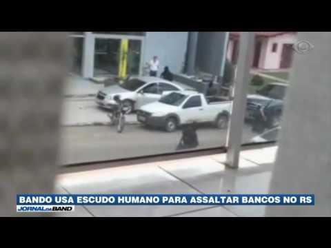 RS: Quadrilha usa escudo humano para assaltar bancos