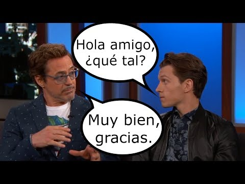 Avengers: Infinity War Cast Speaking Different Languages | Tom Holland is the Best
