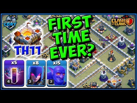*NEW* BOWLER WITCH BAT SPELL TOWN HALL 11 ATTACK STRATEGY | th11 | clash of clans | coc