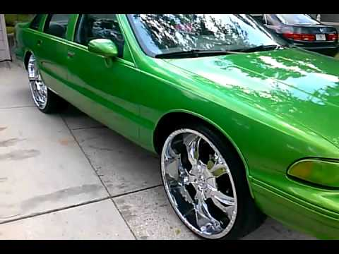 Green Chevy Caprice on 26 s - YouTube 592486b9f1