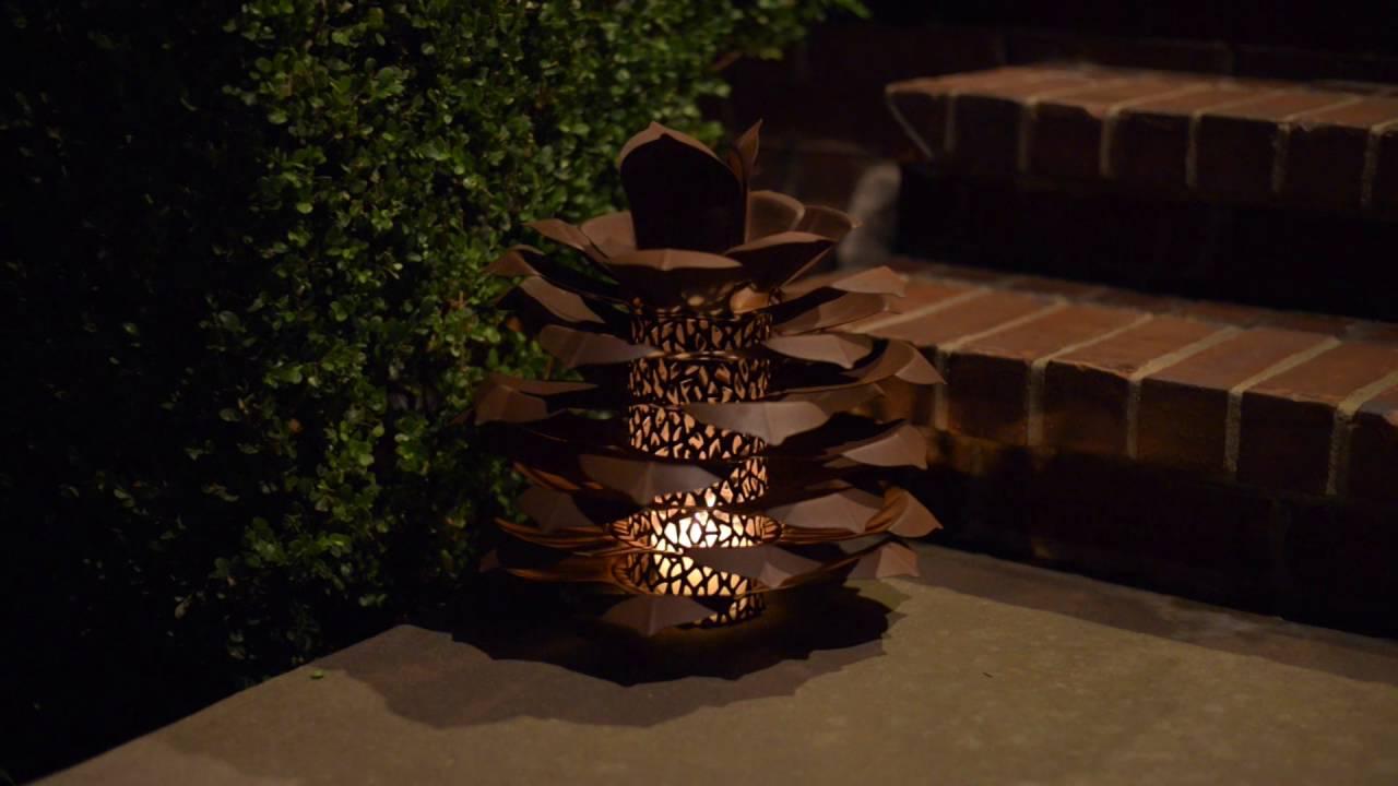 pine cone luminary youtube