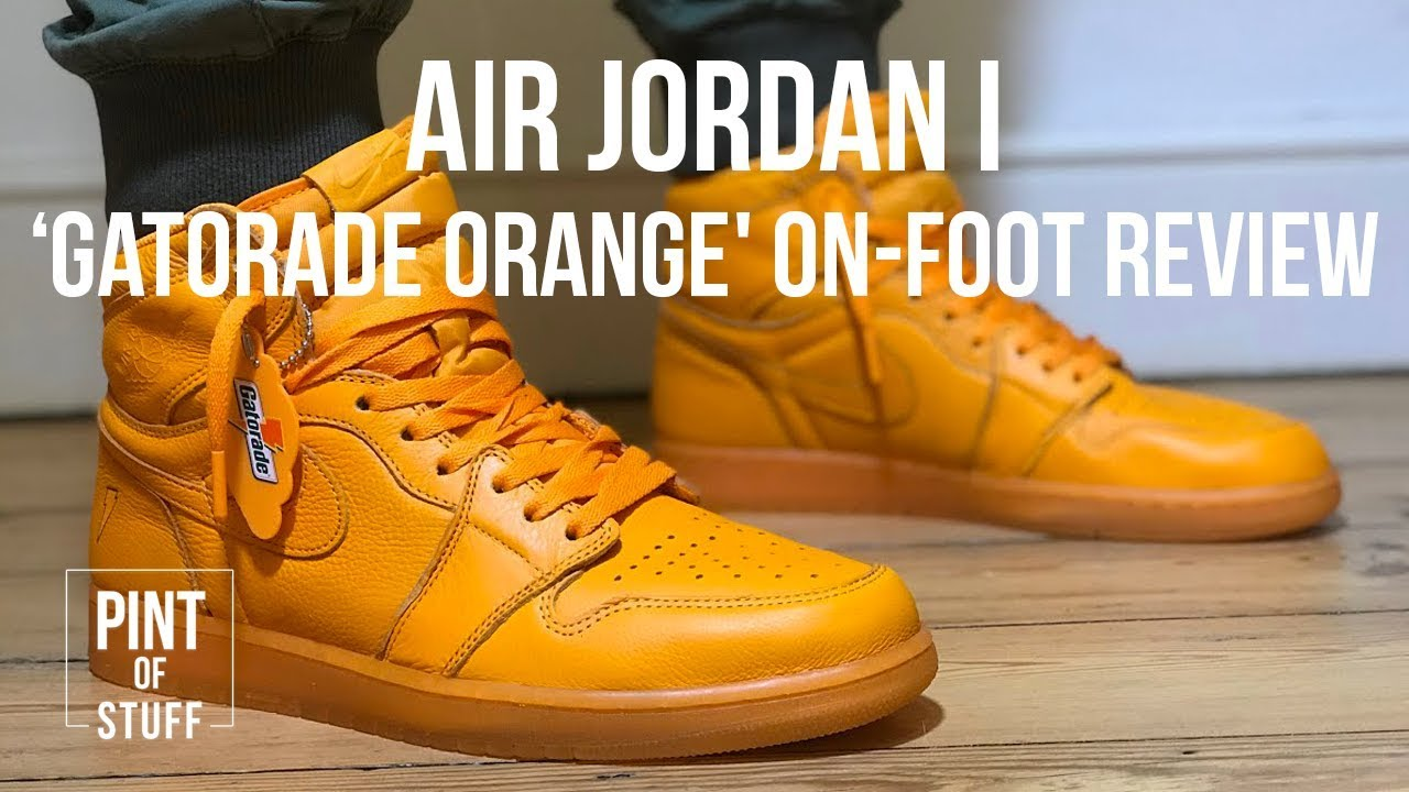 newest collection 23685 1018b Nike Air Jordan I 'Gatorade Orange' Be Like Mike On-foot Review