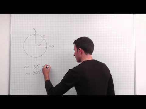 Trigonometrie, Sinus und Kosinus am Einheitskreis, Beispiel 1 - YouTube