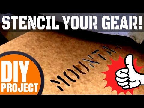 Stencil Your Gear!         Best DIY Chainsaw Scabbard