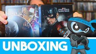 Unboxing the Captain America: Civil War (3D + 2D) Lenticular Steelbook - Zavvi Exclusive