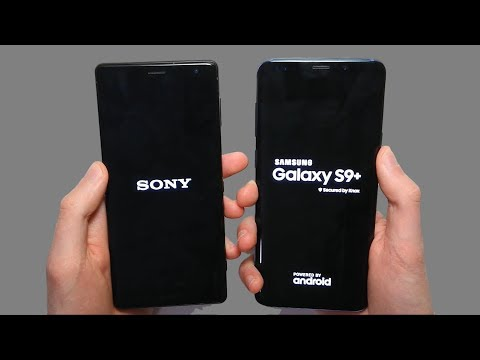 Sony Xperia XZ2 vs Samsung Galaxy S9 Plus Speed Test & Camera Comparison!