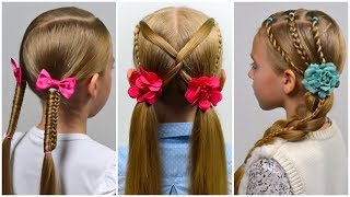 3 QUICK and EASY everyday hairstyles | Cute Long Hair Hairstyles by LittleGirlHair