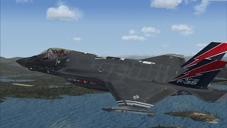 FSX F35 Test Flight Hong Kong