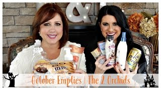 October Empties 2015 | The 2 Orchids