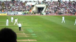 England vs India- Edgbaston Day 1- The Hollies/ Barmy Army Stand Serious Beer Snake