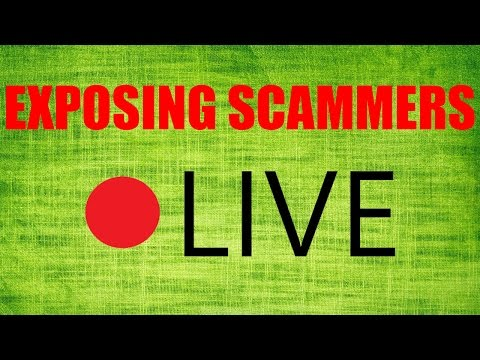 EXPOSING SCAMMERS LIVE STREAM (ruined by script kiddies)