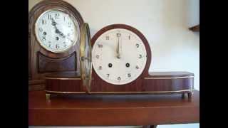 Junghans Small Art Deco Bim Bam Mantel Clock - Circa 1950