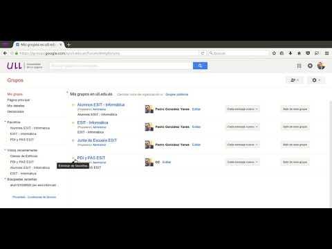 Envio de mensajes con Google Groups