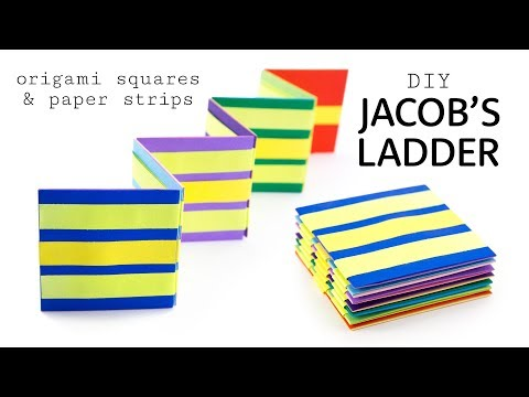 DIY Jacob's Ladder Toy Tutorial - Origami & Paper Strips - Paper Kawaii