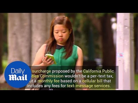 California Public Utilities Commission proposes monthly text tax