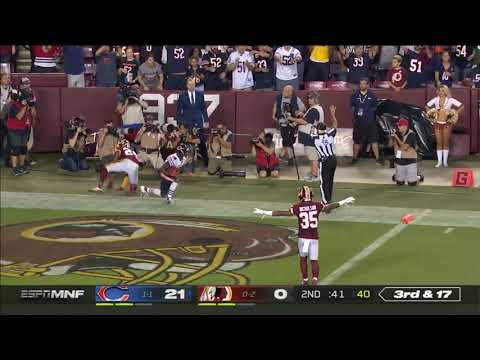 In response to every other throw posted, Mitchell Trubisky throws a 40 yard dime on the run for a touchdown to Taylor Gabriel.